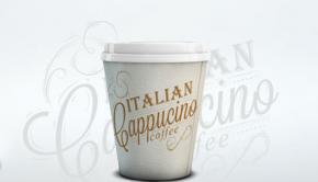 Bedrukte koffiebeker van PLA